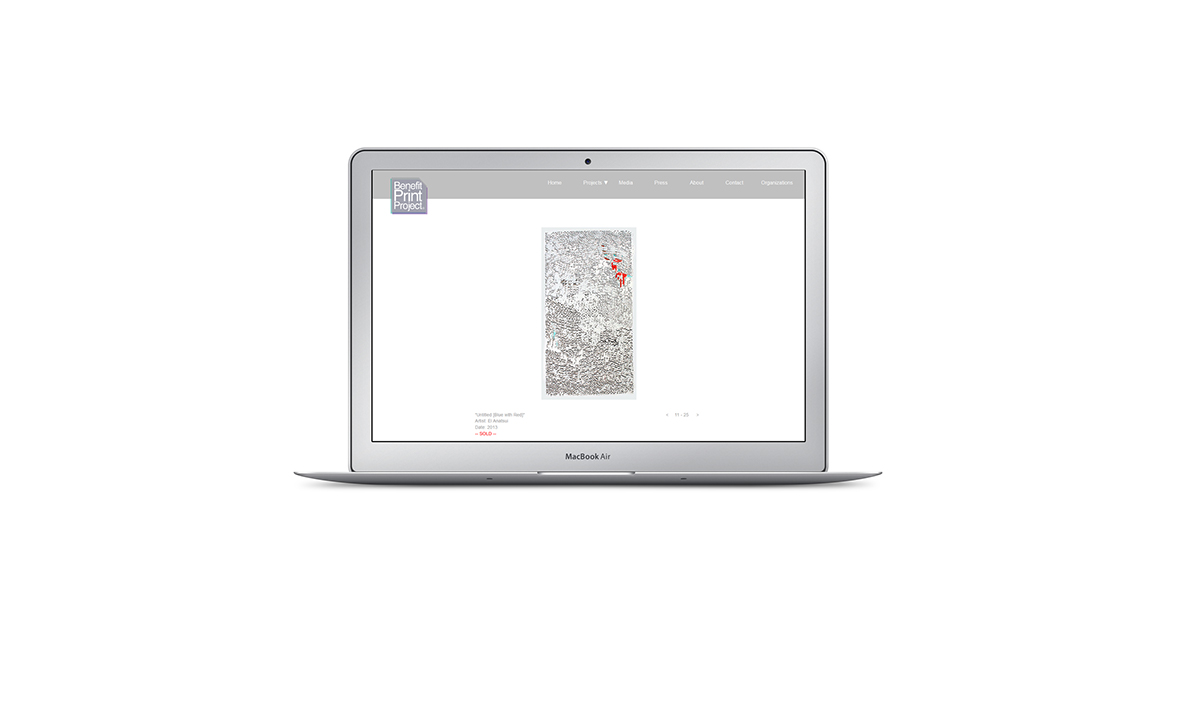 Hector Cruet Benefit Print Project Web Page Laptop Preview