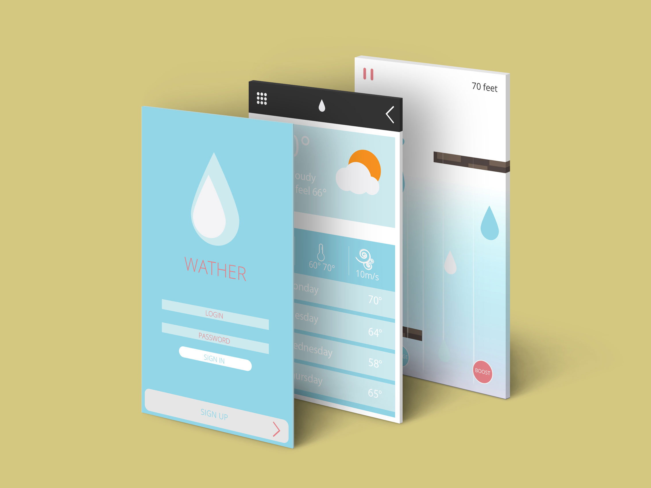 Hector Cruet Wather App Graphic UI